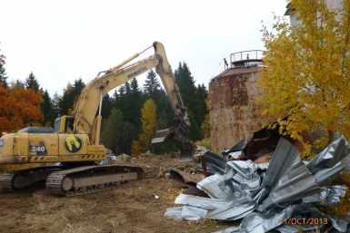Pisisaare katoodkatlamaja lammutamine